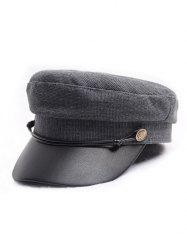 Flat Jointed Peaked Newsboy Hat -