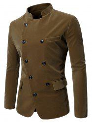 Button Decoration Pocket Long-sleeved Blazer -