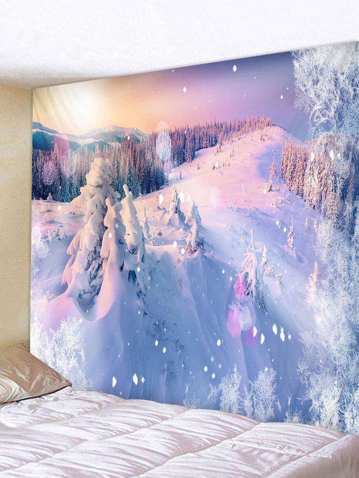 Online Snow Mountains Print Tapestry Wall Hanging Art Decoration