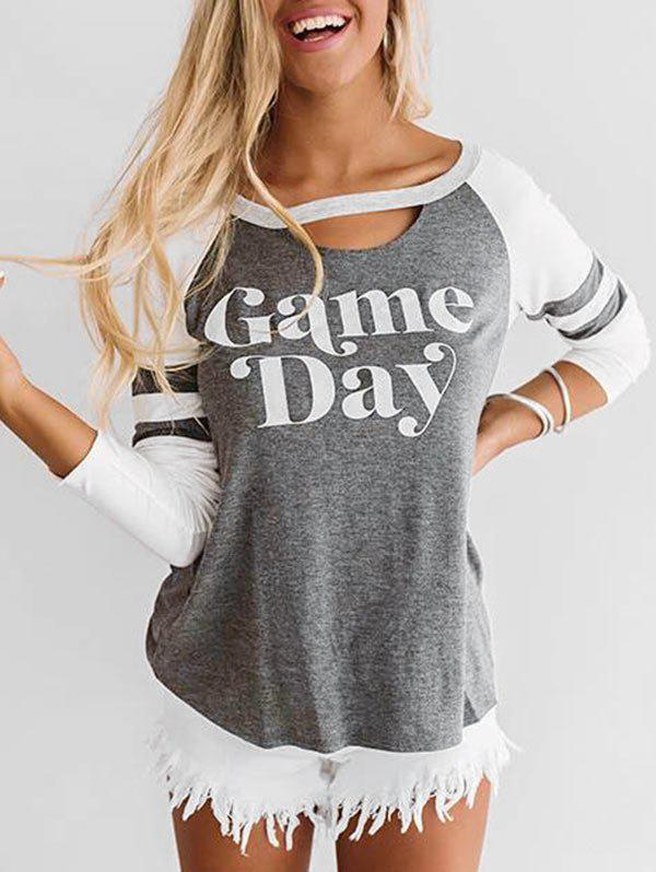 Unique Day Graphic Long Sleeve Baseball Tee