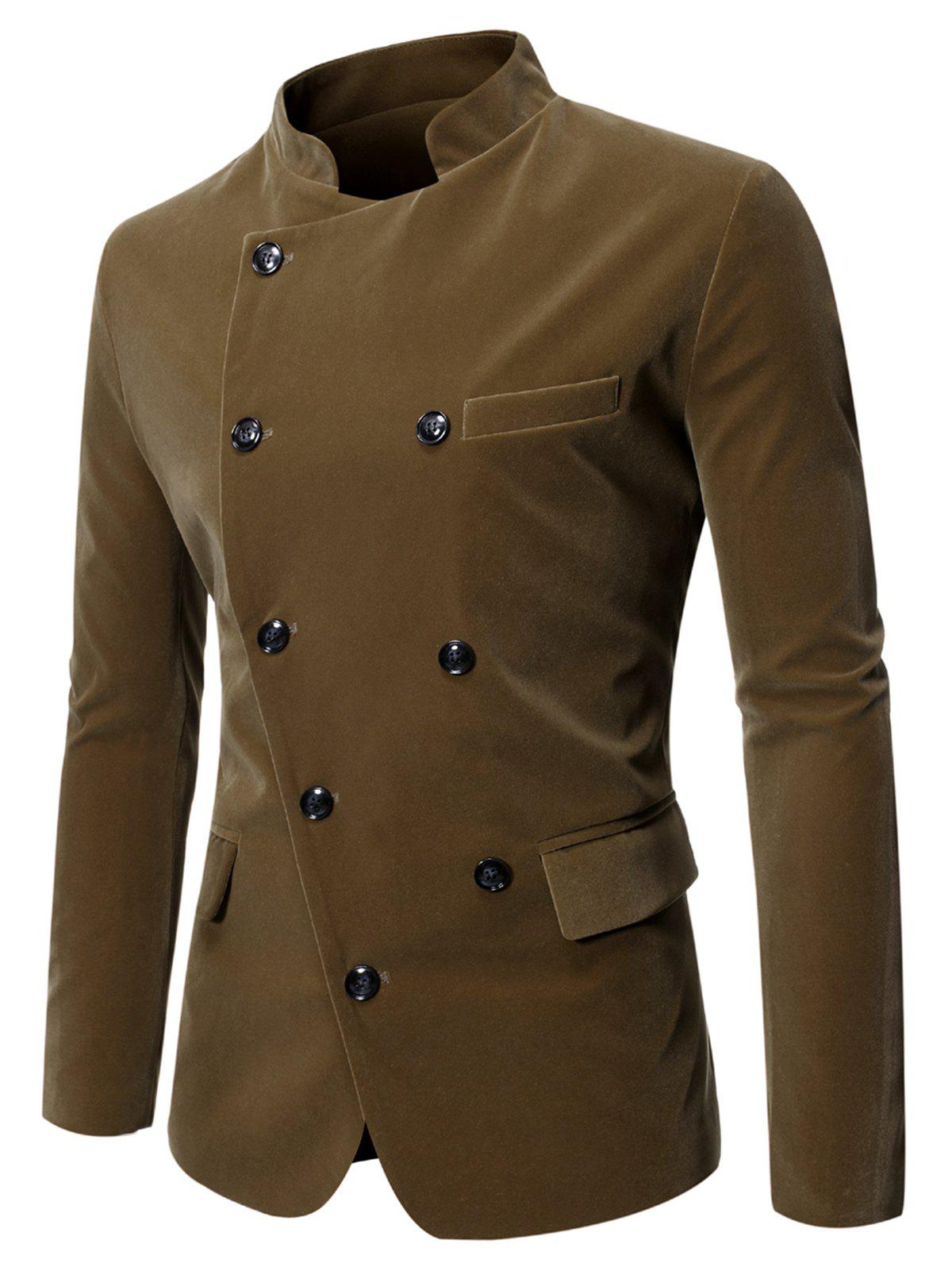 Fashion Button Decoration Pocket Long-sleeved Blazer