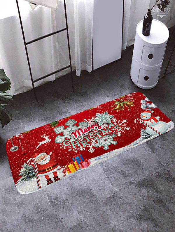 Outfit Christmas Santa Claus Letter Print Floor Rug