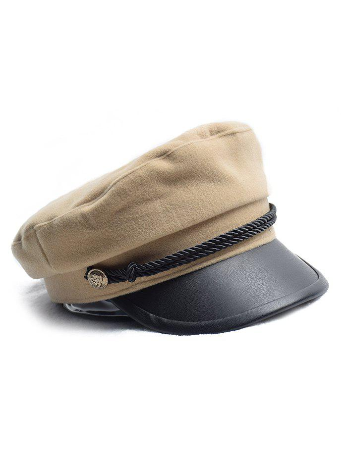 Store Flat Button Peaked Newsboy Hat