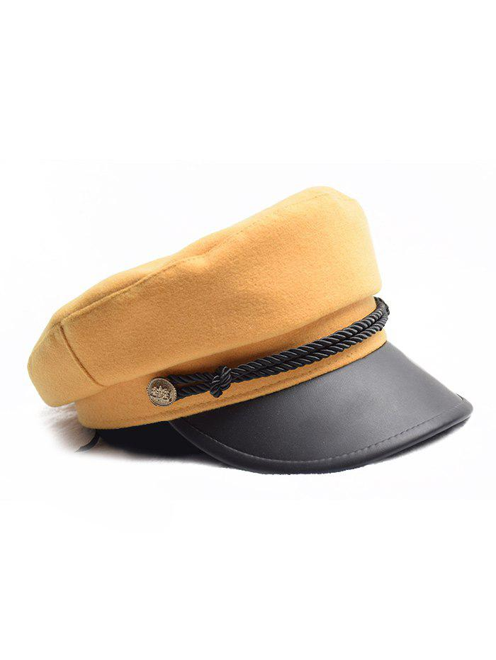 Discount Flat Button Peaked Newsboy Hat