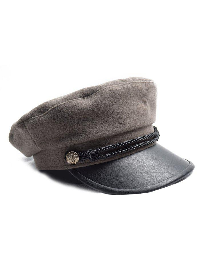 Affordable Flat Button Peaked Newsboy Hat
