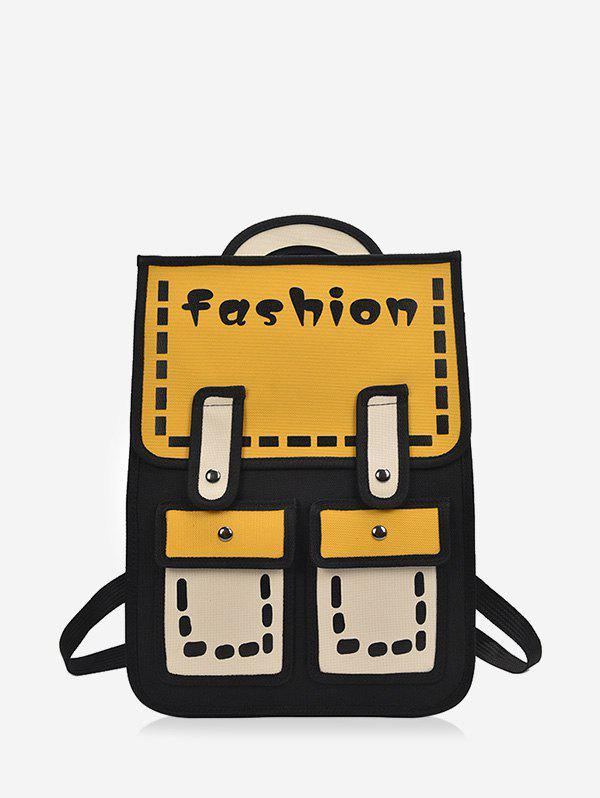 Unique Cartoon Style Chic Backpack