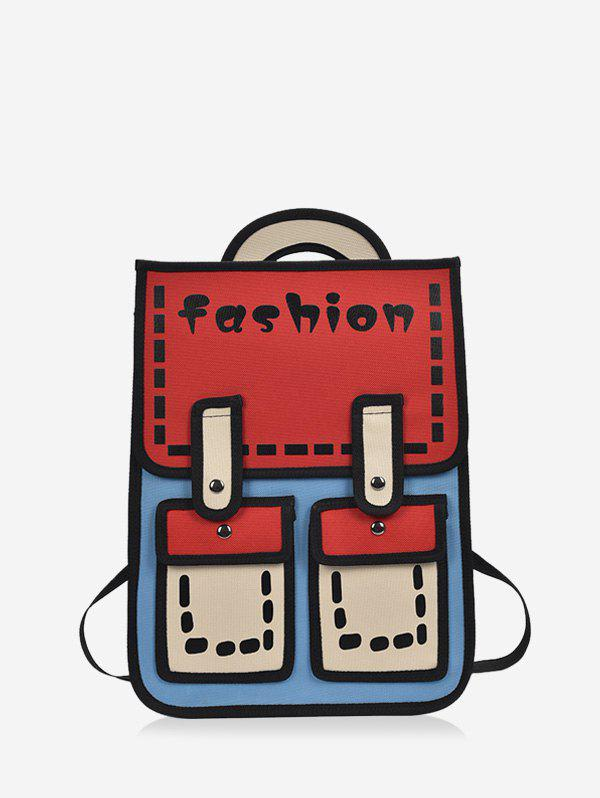 Buy Cartoon Style Chic Backpack