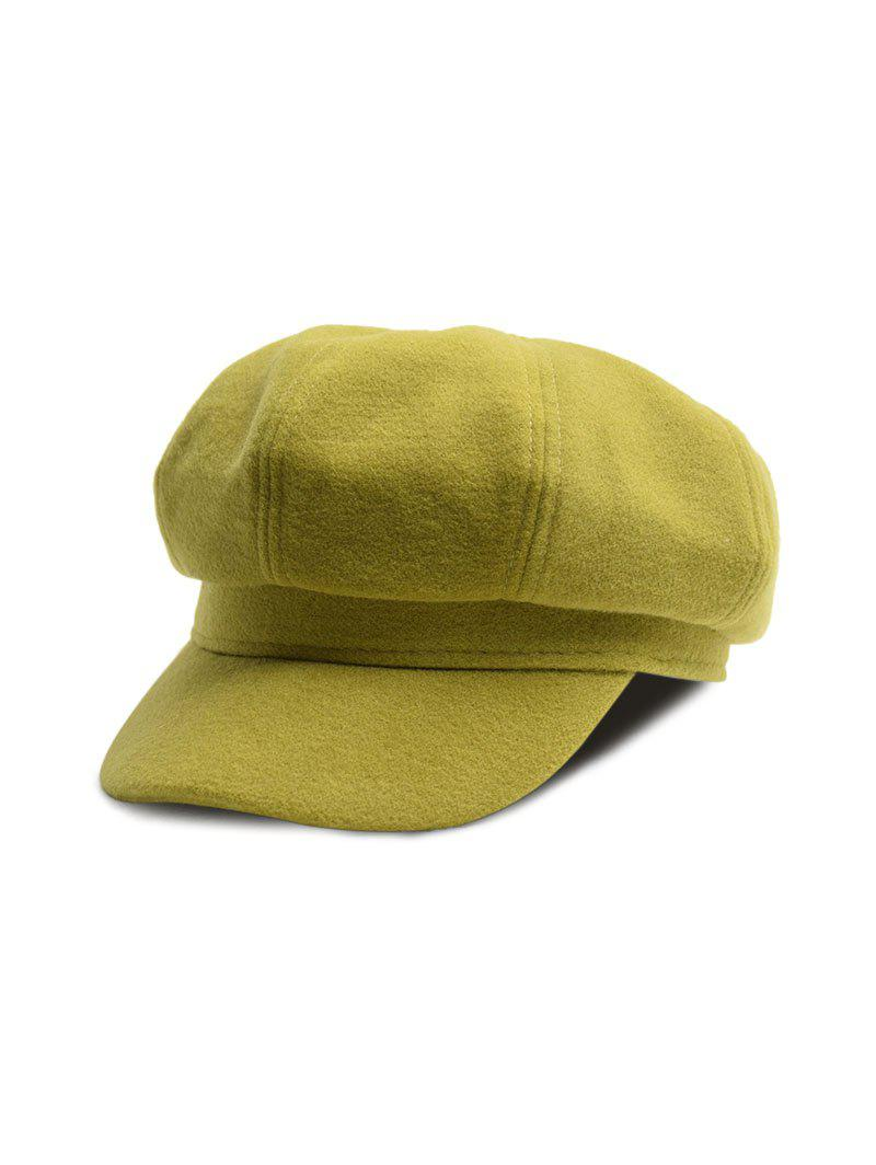 Cheap Casual Beret Octagonal Newsboy Hat