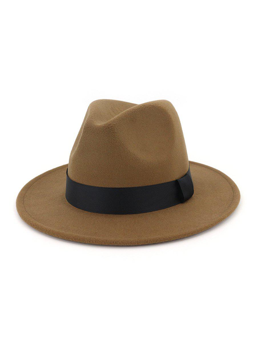 Hot Woolen Solid Floppy Jazz Hat