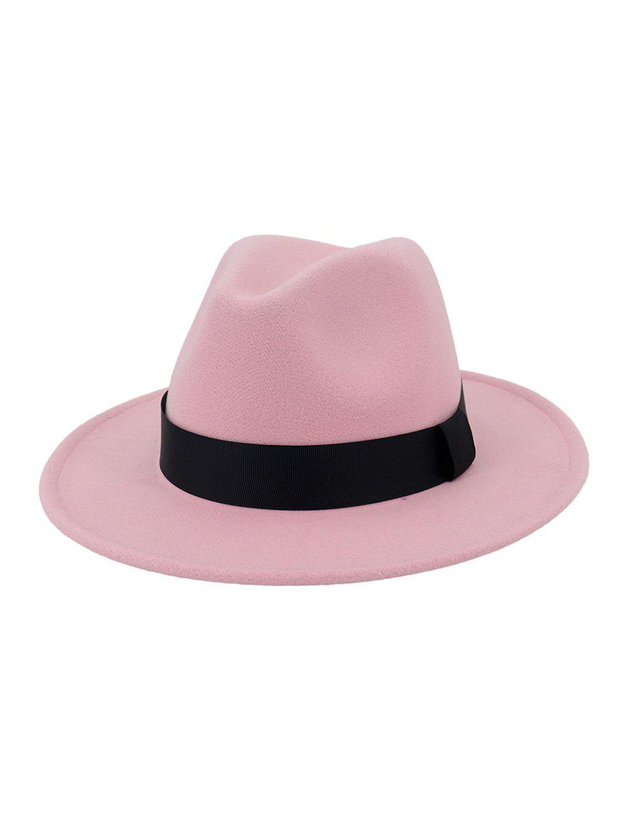 Cheap Woolen Solid Floppy Jazz Hat