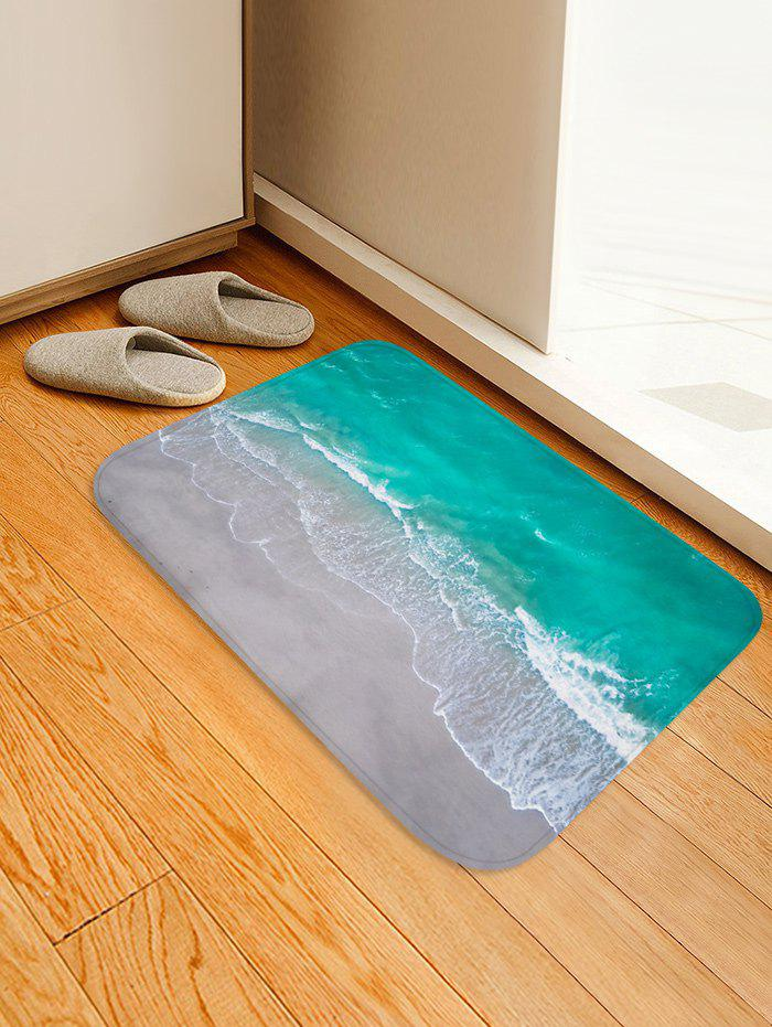Buy Beach Wave Pattern Water Absorption Area Rug