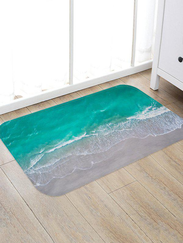 Online Beach Wave Pattern Water Absorption Area Rug