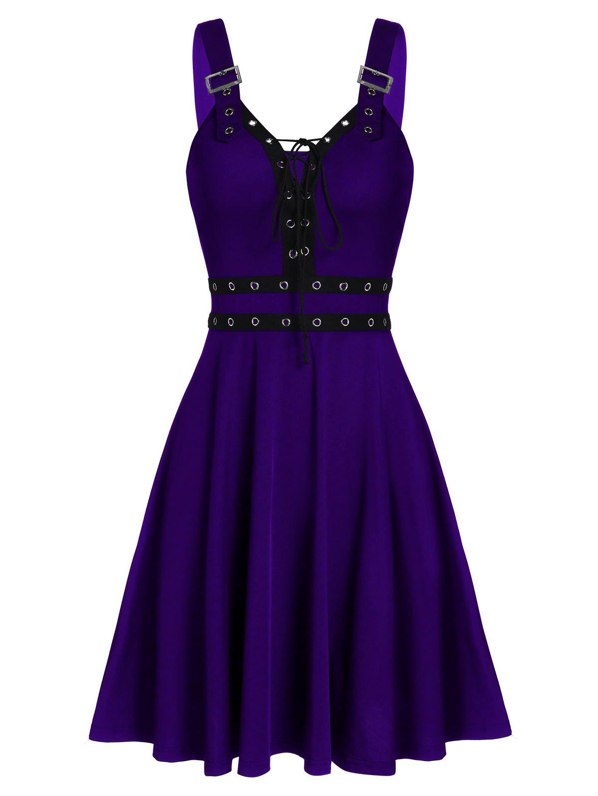 Cheap Sweetheart Collar A Line Rings Gothic Dress