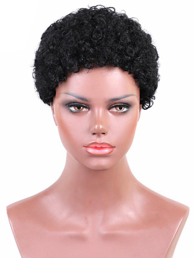 Outfit Short Solid Afro Curl Synthetic Wig