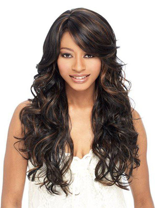 Chic Synthetic Long Side Bang Loose Wave Wig