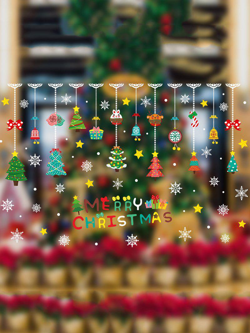 Best Merry Christmas Hanging Decorations Print Removable Wall Art Stickers