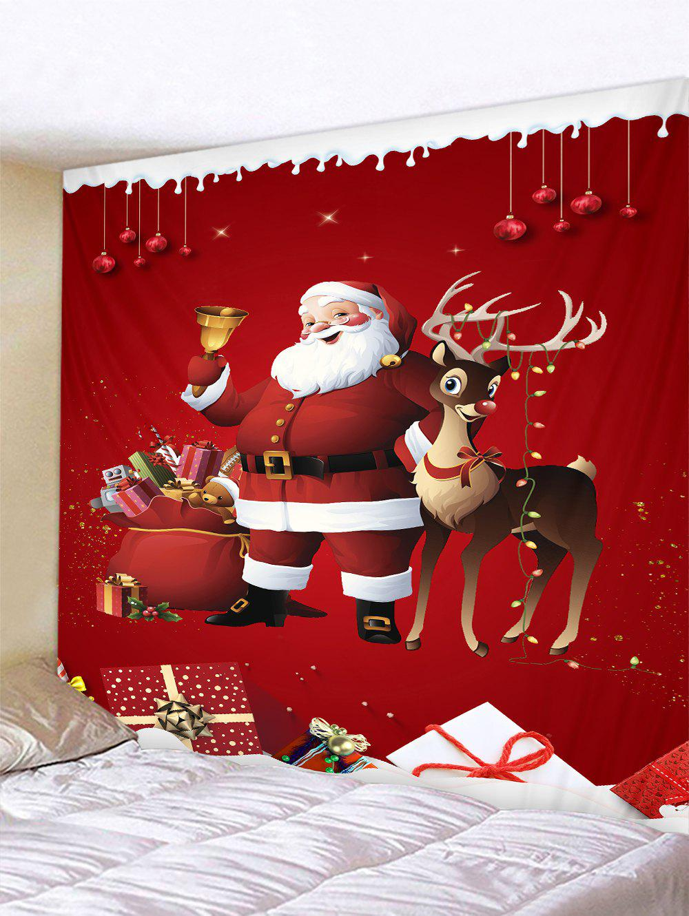 New Father Christmas Gift Deer Pattern Tapestry