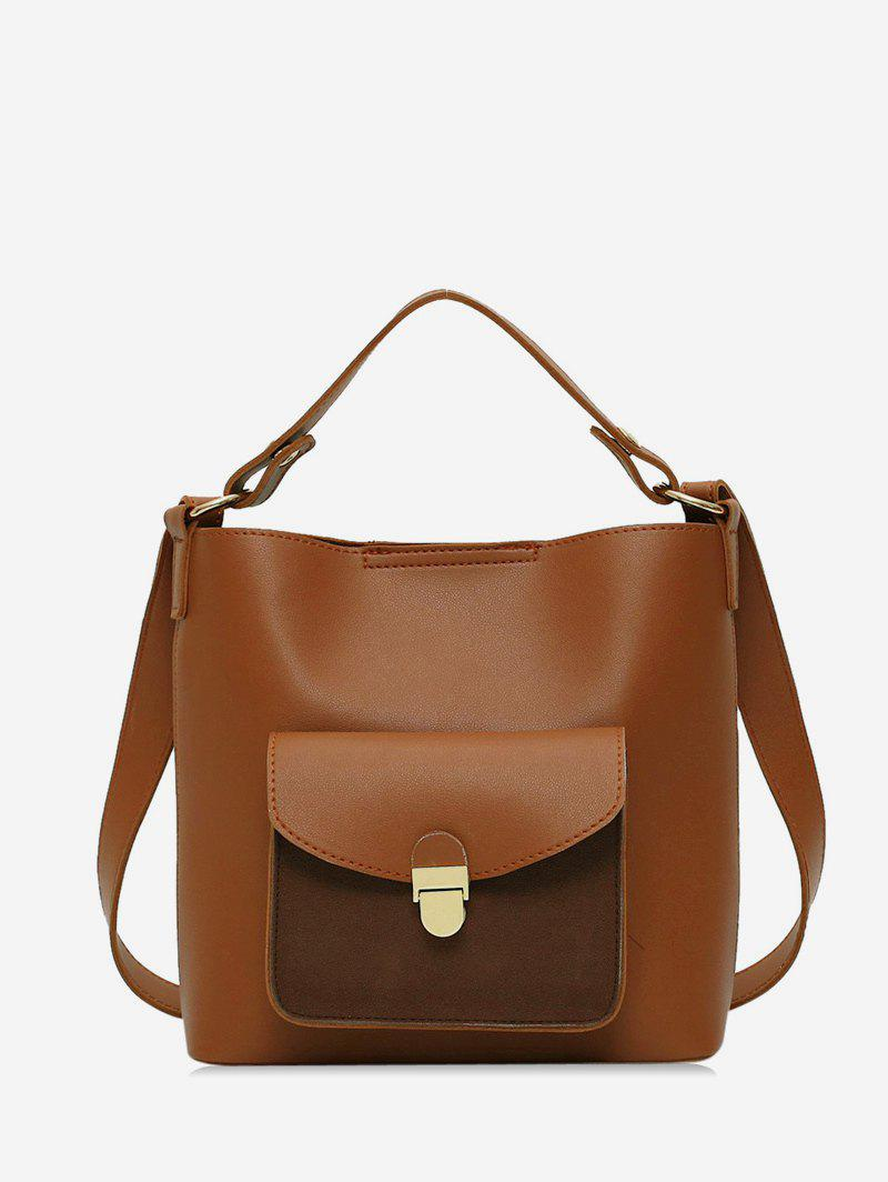 New Pocket Simple Solid Shoulder Bag