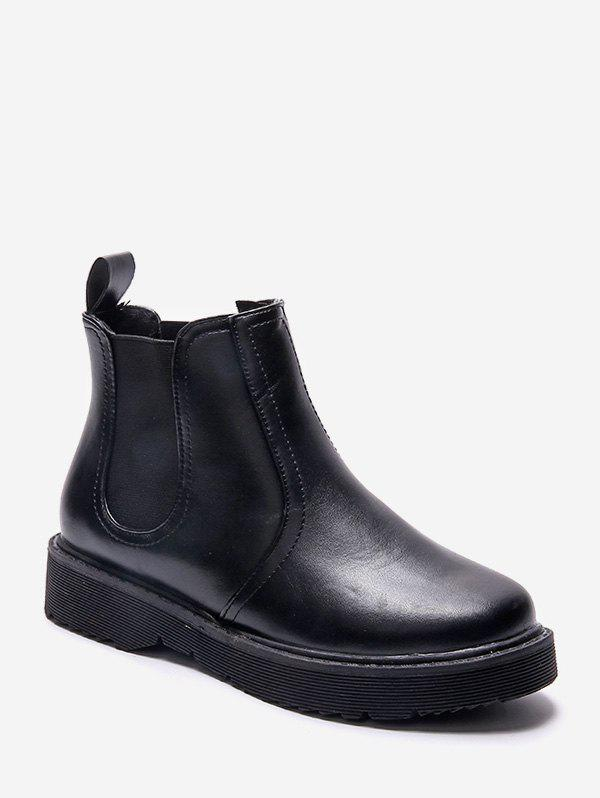 Shop Solid Color Round Toe Chelsea Ankle Boots