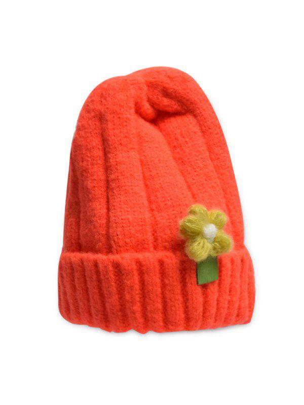 Store Winter Floral Turn Up Edge Knitted Hat
