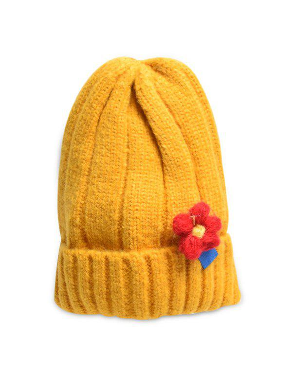 Discount Winter Floral Turn Up Edge Knitted Hat