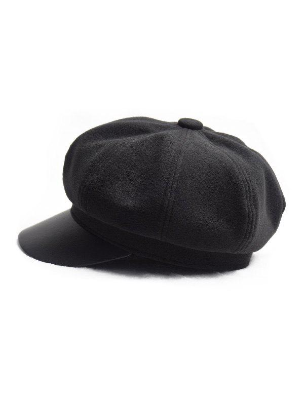 Chic Octagonal Solid Peaked Newsboy Hat