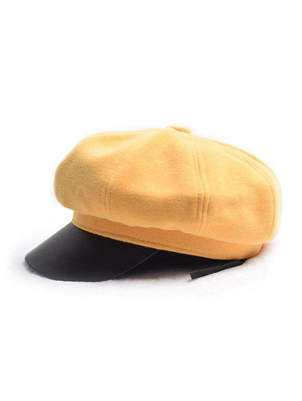 Outfits Octagonal Solid Peaked Newsboy Hat
