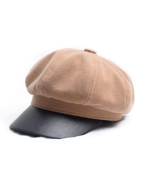 Store Octagonal Solid Peaked Newsboy Hat