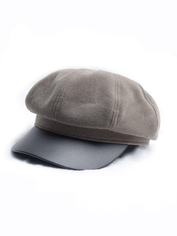 Discount Octagonal Solid Peaked Newsboy Hat