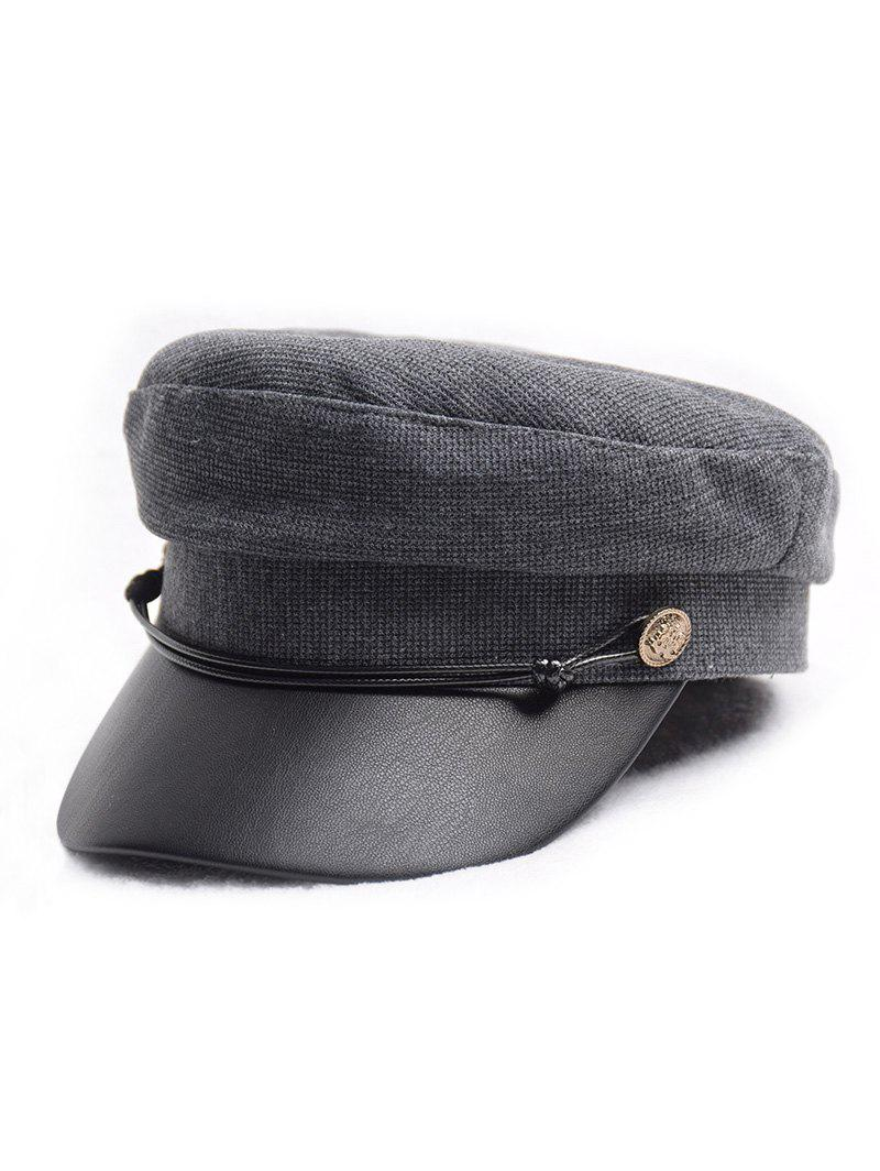 Unique Flat Jointed Peaked Newsboy Hat