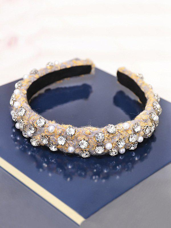 Sale Rhinestone Faux Pearl Hairband