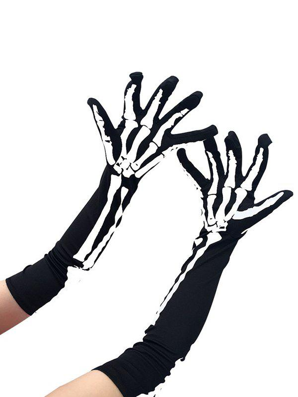Affordable Halloween Accessories Skeleton Pattern Arm Gloves