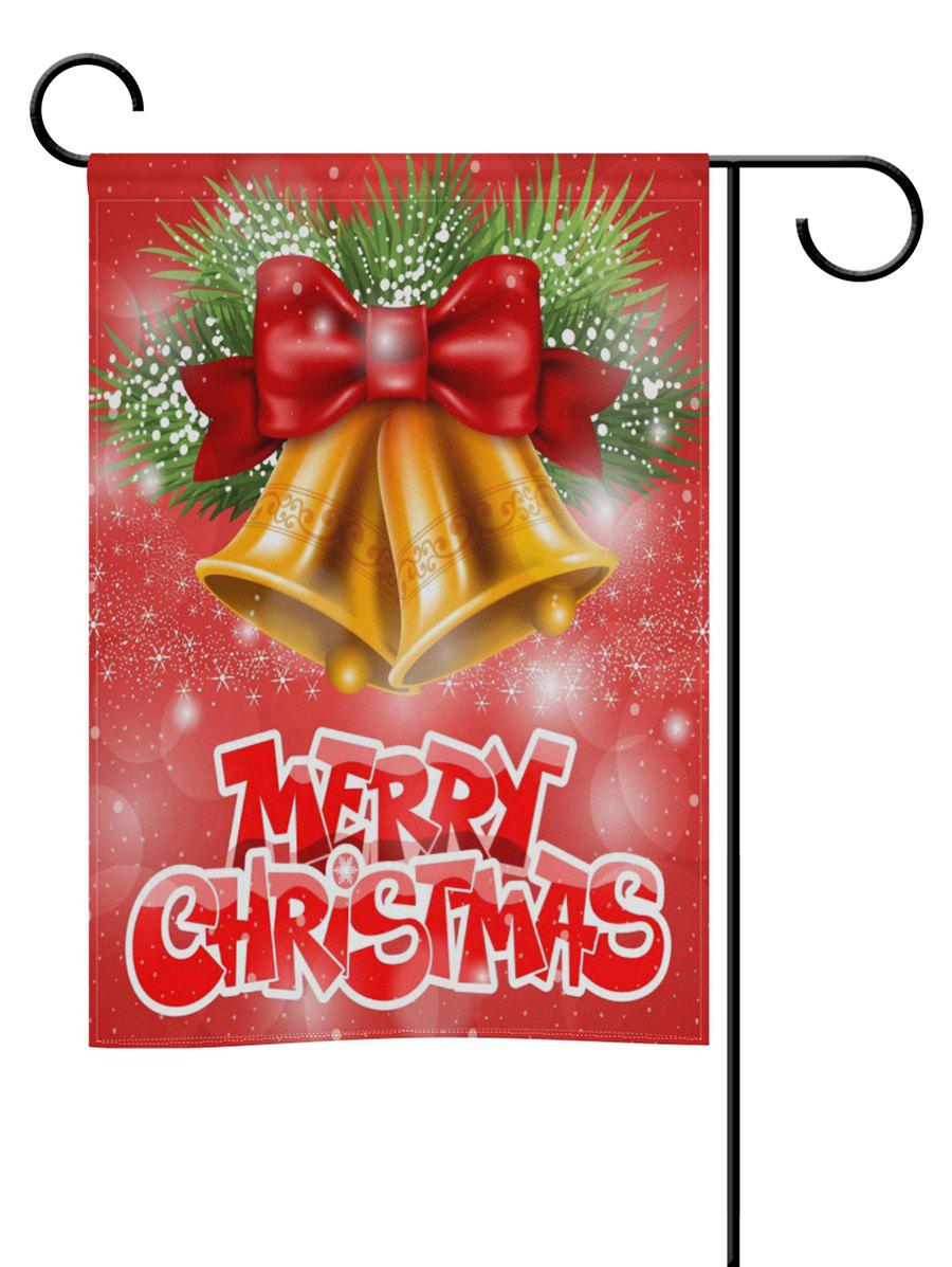 Affordable Merry Christmas Bell Double Side Decoration Flag