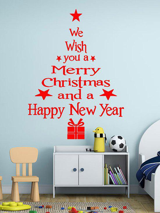 Shop Merry Christmas and New Year Greetings Print Wall Art Stickers