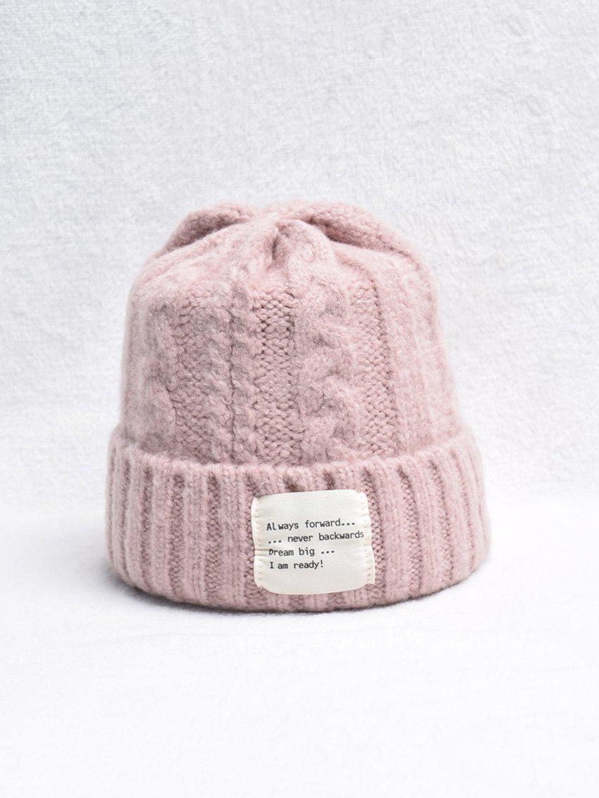 Fancy Winter Turn Up Edge Braid Knitted Hat