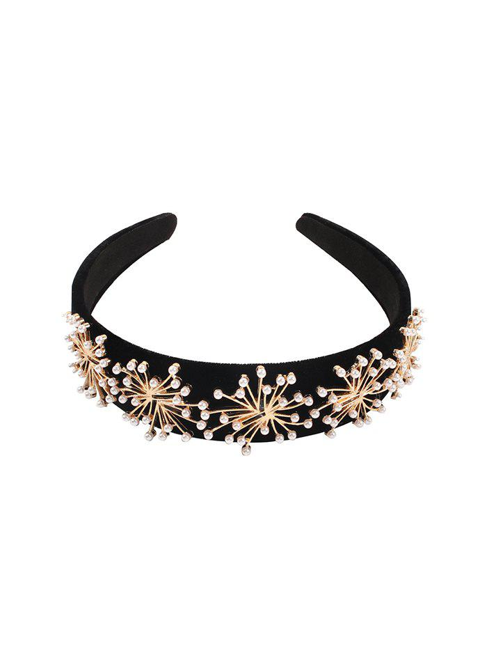 New Artificial Pearl Floral Hairband
