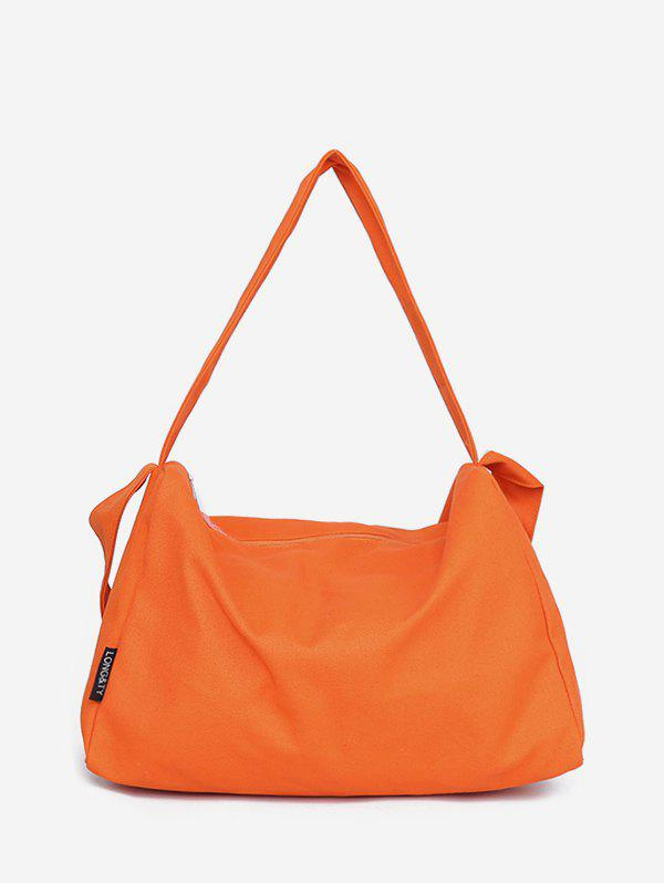 Store Canvas Big Zipper Solid Sports Bag