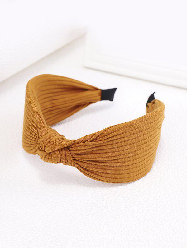 Cheap Striped Knitted Fabric Knot Wide Hairband