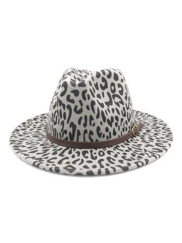 Belt Embellished Leopard Jazz Hat