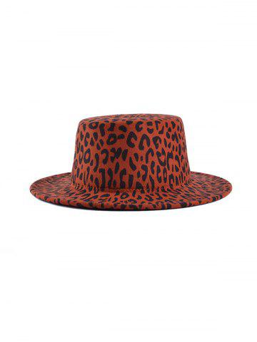 Chic Leopard Pattern Flat Top Hat