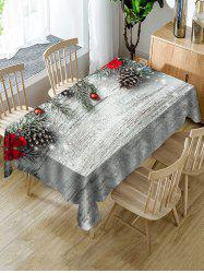 Christmas Ball Fabric Waterproof Table Cloth -