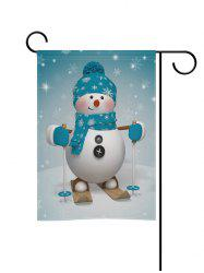 Christmas Snowman Double Side Decoration Flag -