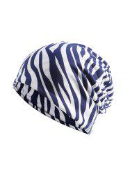Zebra Print Elastic Double Use Scarf Hat -