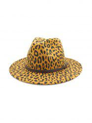 Belt Embellished Leopard Jazz Hat -