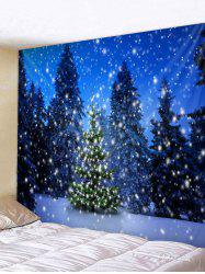 Christmas Snow Tree Pattern Tapestry -