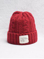 Casual Turn Up Edge Knitted Braid Hat -
