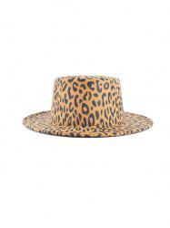 Chic Leopard Pattern Flat Top Hat -