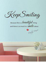 Keep Smiling Pattern Wall Sticker -