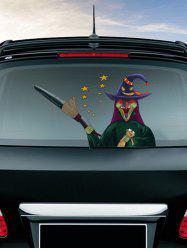 Halloween Witch Skull Pumpkin Pattern Car Stickers Wall Art Stickers -