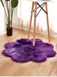 Flower Shape Faux Fur Soft Throw Rug -
